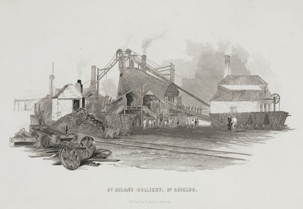 St Hilda's Colliery, South Shields, Tyne and Wear, 1844.