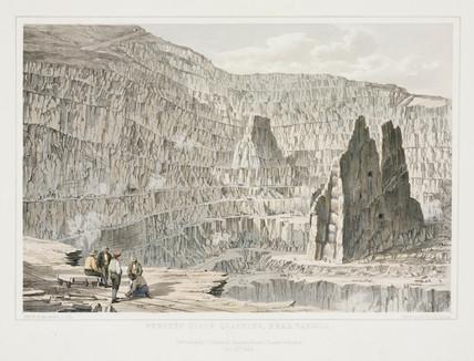 Penrhyn Slate Quarries, near Bangor, Gwynedd, Wales, 1852.