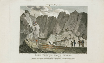 'Lord Penryn's Slate Quarry' near Bangor, North Wales, 1808.