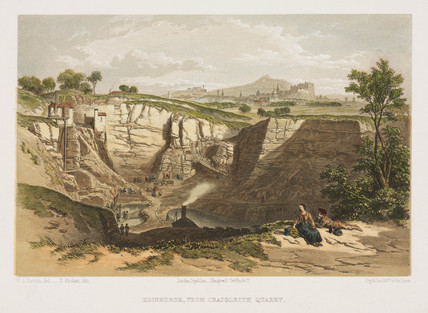 Craigleith Quarry, Edinburgh, c 1850s.