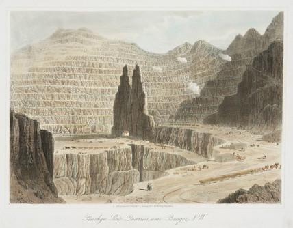 Penrhyn Slate Quarries, near Bangor, Wales, c 1842.