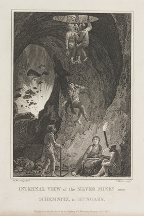 Silver mines near Schemnitz, Hungary, 1805.