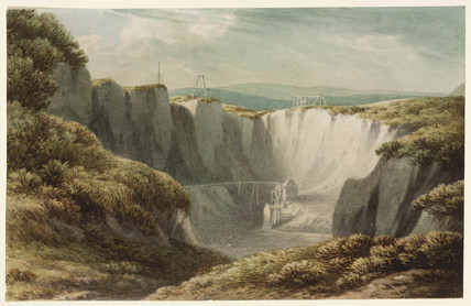 The tin mine at Carclaise, Cornwall, c 1800.