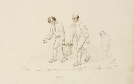 Carrying the kibble, Northumberland,  c 1805-1820.