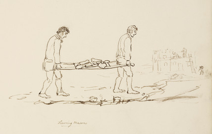 Men carrying stone, Northumberland,  c 1805-1820.