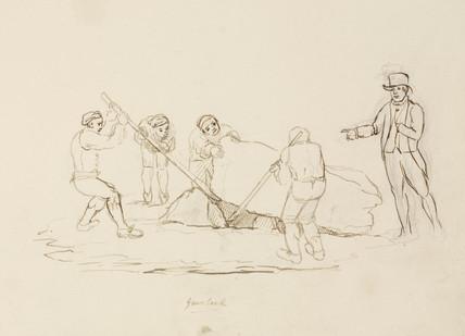 Lead mining, Northumberland,  c 1805-1820.