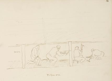'Pitmen', lead mining, Northumberland,  c 1805-1820.