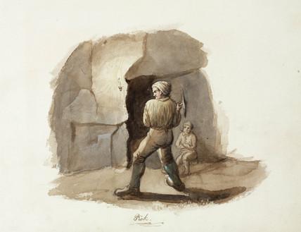 'Pick', lead mining, Northumberland,  c 1805-1820.