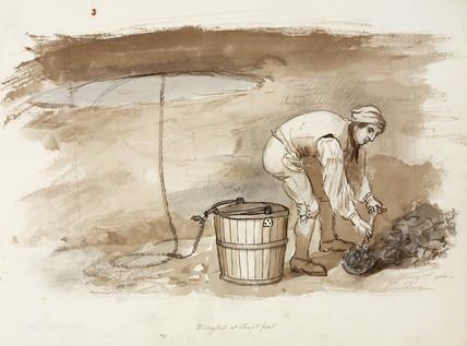Lead mine, Northumberland, c 1805-1820.