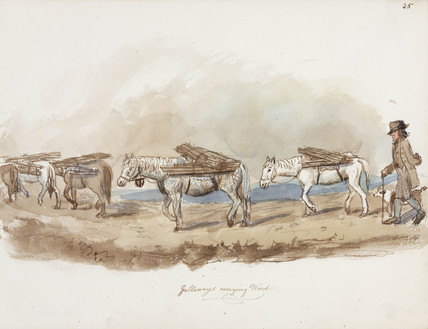 Transporting wood, Northumberland, c 1805-1820.