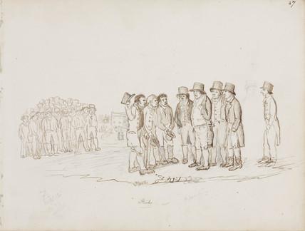 Mining delegates, Northumberland, c 1805-1820.