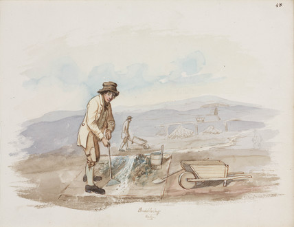 Washing lead ore, Northumberland, c 1805-1820.