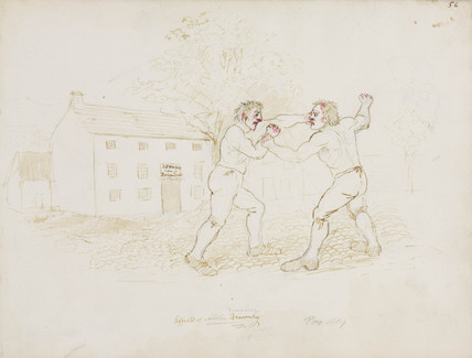Fighting, Northumberland, c 1805-1820.