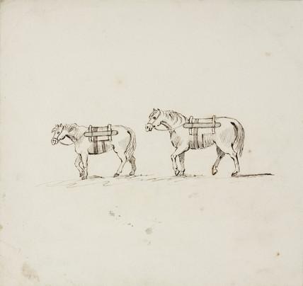 Horses, lead mines, Northumberland, c 1805-1820.