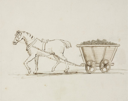 Horse with mine waggon, Northumberland, c 1805-1820.