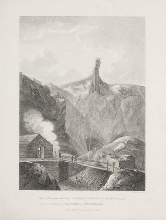 The Great Mine of Copper at Fahlun in Dalecarlia, Stockholm, 1822.