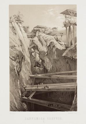 The workings at Dannemora iron mine, Sweden, c 1856.
