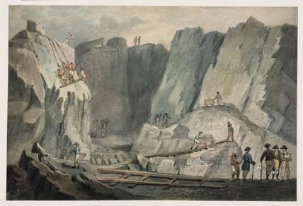 Slate quarry near Bangor, Wales, 1807.