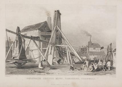 Dolcoath copper mine, Cornwall,  1831.