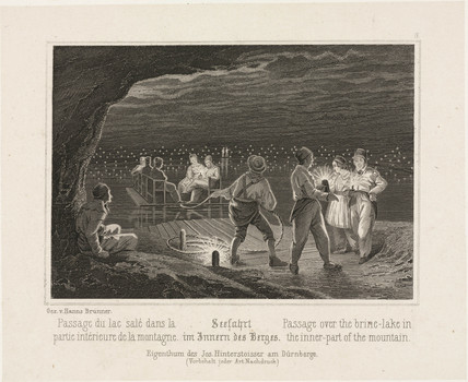 'Pasage Over the Brine Lake in the Inner Part of the Mountain', c 1850s.