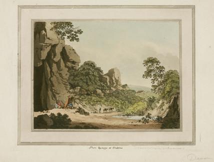 Slate quarry at Crabtree, Devon, 1797.