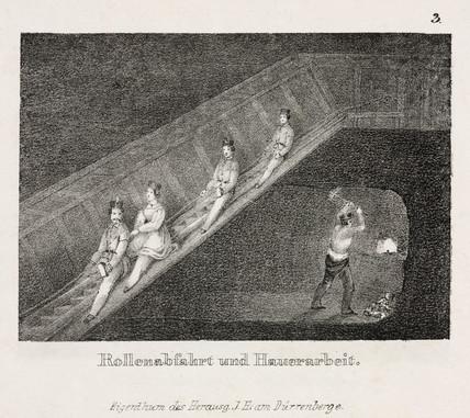 'Downward rolling mechanism and tuskwork', Austria, 19th century.