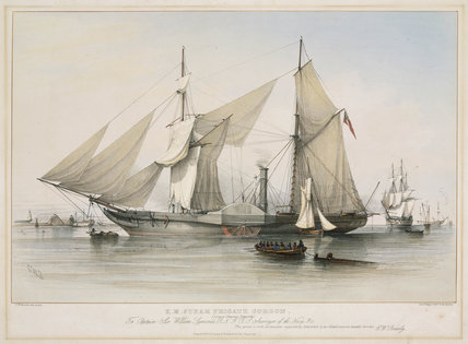 HMS Steam Frigate Gorgon, 1837.
