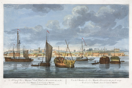 'A view of his Majesty's Dock Yard at Woolwich', London, early 19th century.
