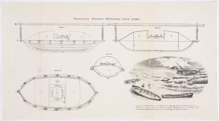 'Francis's Patent Metallic Life Cars', c 1850.