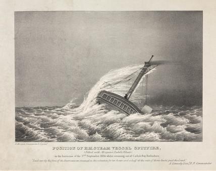 H M Steam Vesel Spitfire, 3 September 1835.