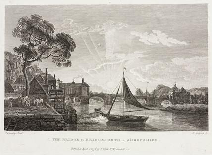 'The bridge at Bridgenorth in Shropshire', c 1770.