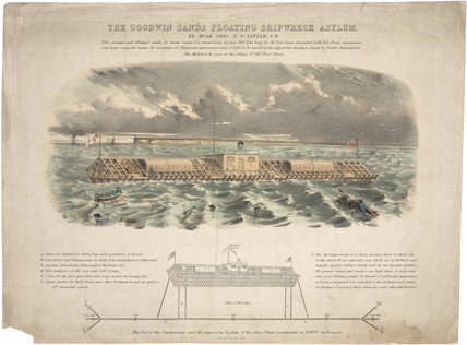 'The Goodwin Sands Floating Shipwreck Asylum', 19th century.