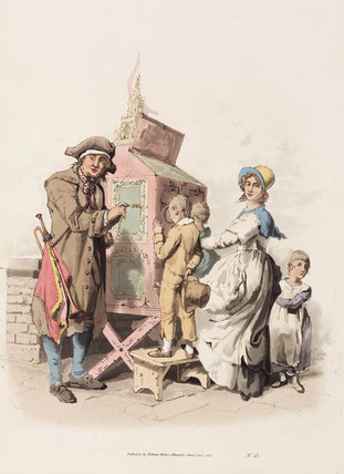 'Half penny showman', 1808.