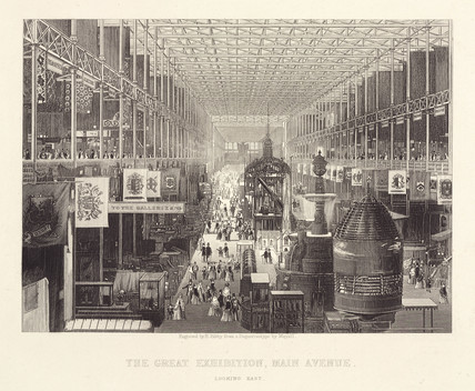 'Great Exhibition, Main Avenue looking east', 1851.