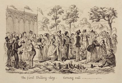 'The First shilling-day - coming out', 1851.