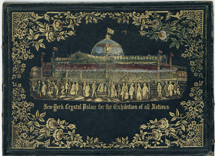 Embosed folder showing the Crystal Palace, 1851.