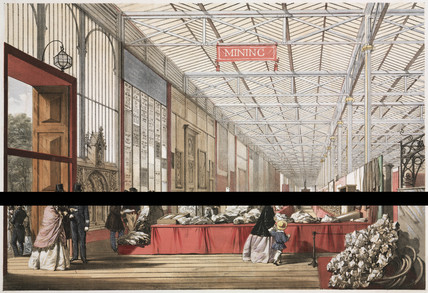 Mining stand at the Great Exhibition, Hyde Park, London, 1851.