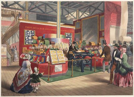 De la Rue's Stationery Stand and Envelope Machine, 1851.