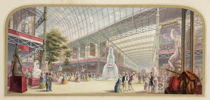 'Interior of the Great Exhibition' , 1851.