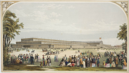 View of the Crystal Palace, Hyde Park, London, 1851.