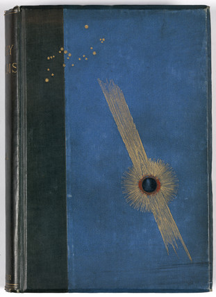 Decorative cover of 'In starry realms', 1892.