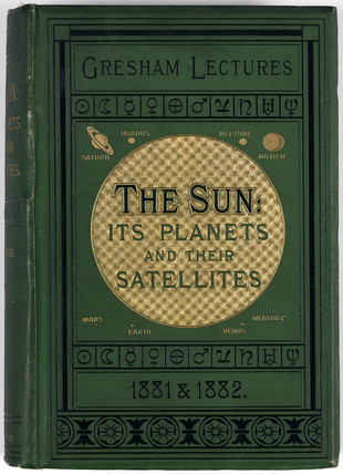 Cover to 'The sun: its planets and their satellites', 1882.