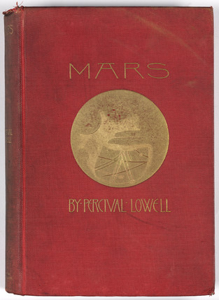 Decorative binding of 'Mars', 1895.