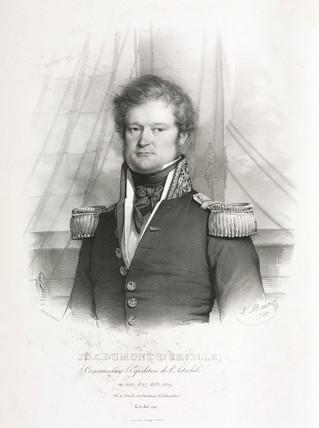 Jules-Sebastien-Cesar Dumont d'Urville, French navigator, 1833.
