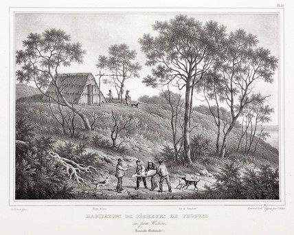 Seal hunter's hut, Australia, 1826-1829.
