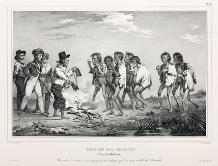 Aboriginals with western trinkets, New Holland, 1826-1829.