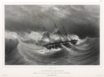 The corvette 'Astrolabe', New Zealand, 1826-1829.