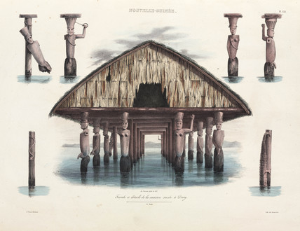 Sacred house, Dorey village, New Guinea, 1826-1829.