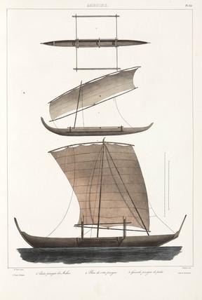 Canoes, Ambon, 1826-1829.