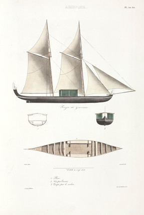 The Governor's pirogue, Ambon, 1826-1829.
